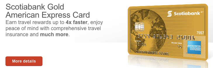 Scotiabank Gold American Express Card Review Canadian Kilometers