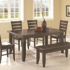 Jonas 6-Piece Dining Set - Cappuccino Finish