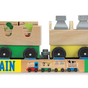 Wooden Farm Train Toy Set