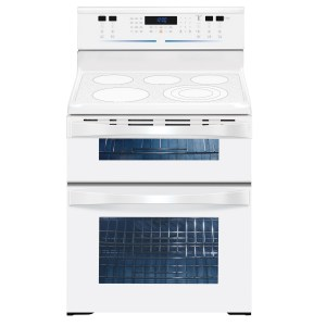 "6004824 KM Elite 30"" Freestanding Double Oven Range - White"
