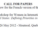 Call for Papers: 5th Annual Workshop for Women in International Security: Canada and the United States: Defining Priorities in Security and Defence