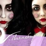 maquillaje de SAW para Halloween