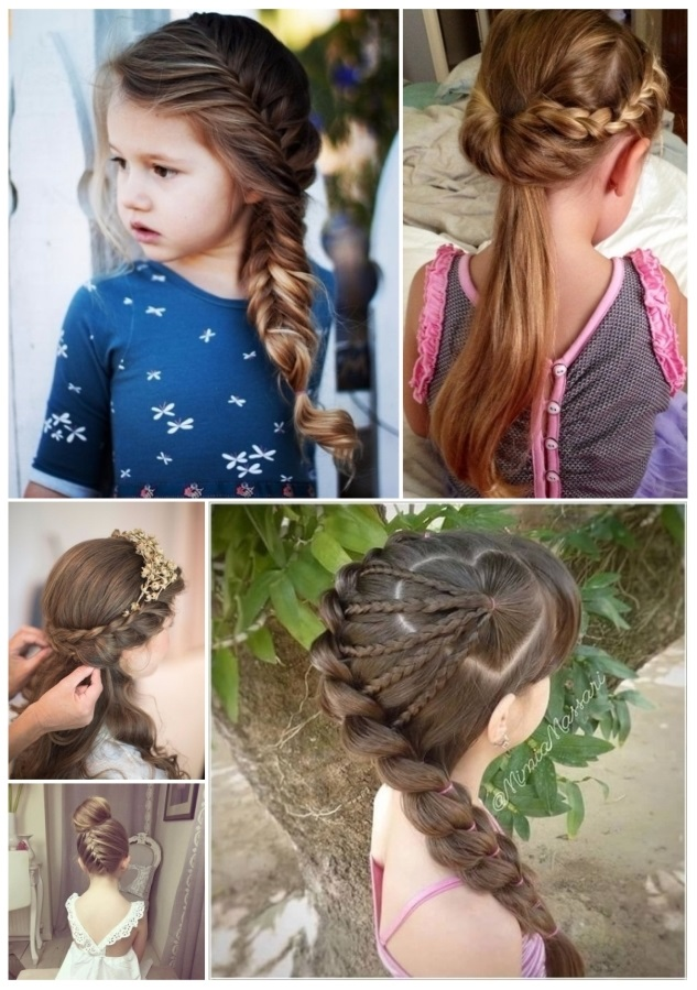 peinados con trenzas para primera comunin