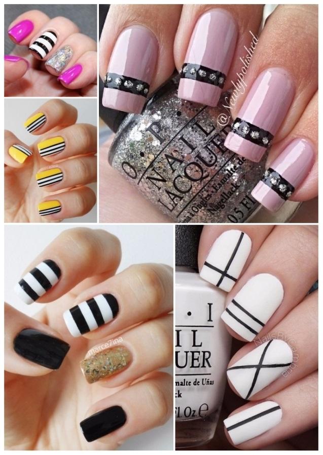 decoración de uñas con rayas 2