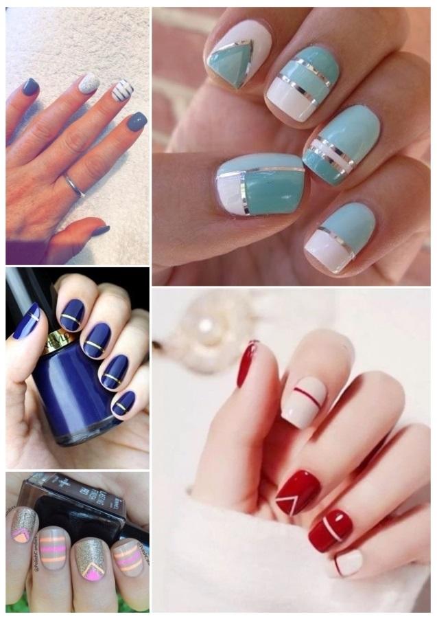 decoración de uñas con rayas 3