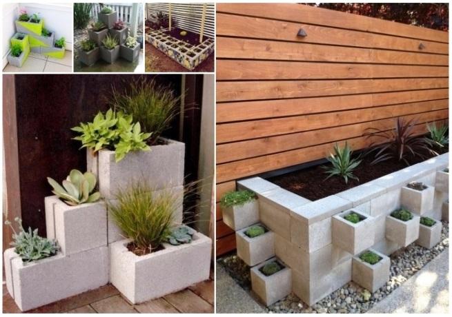 Decorar con bloques de cemento ideas diy que te encantar n - Jardineras de cemento ...