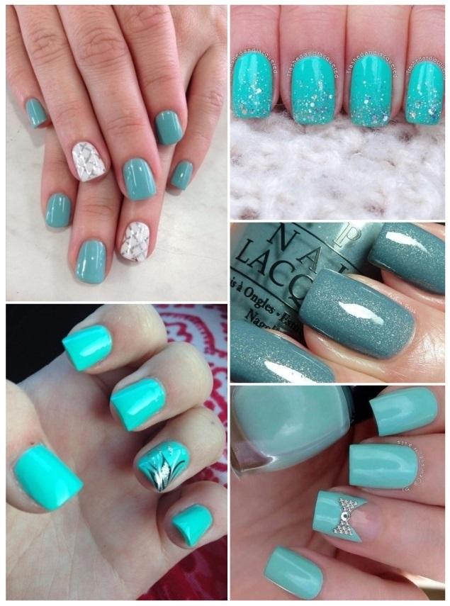 esmaltes de uñas verdes