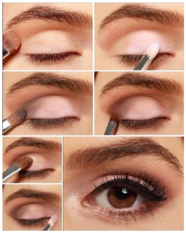 maquillaje rosa de día