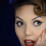 maquillaje pin up años 50