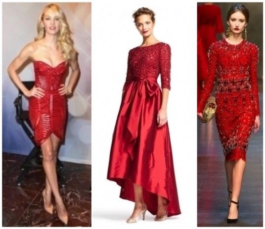 como combinar un vestido rojo para navidad