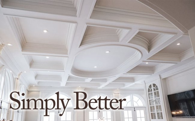 Advantages of plaster coated foam moulding for Foam coffered ceiling