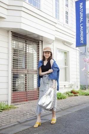 ひとくせスカート×デニムジャケットの「甘カジ」スタイル♡