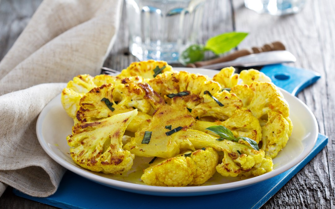 Turmeric Roasted Cauliflower Steaks