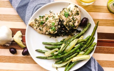 Kale & Olive Stuffed Chicken Breast with Green Beans & Fennel