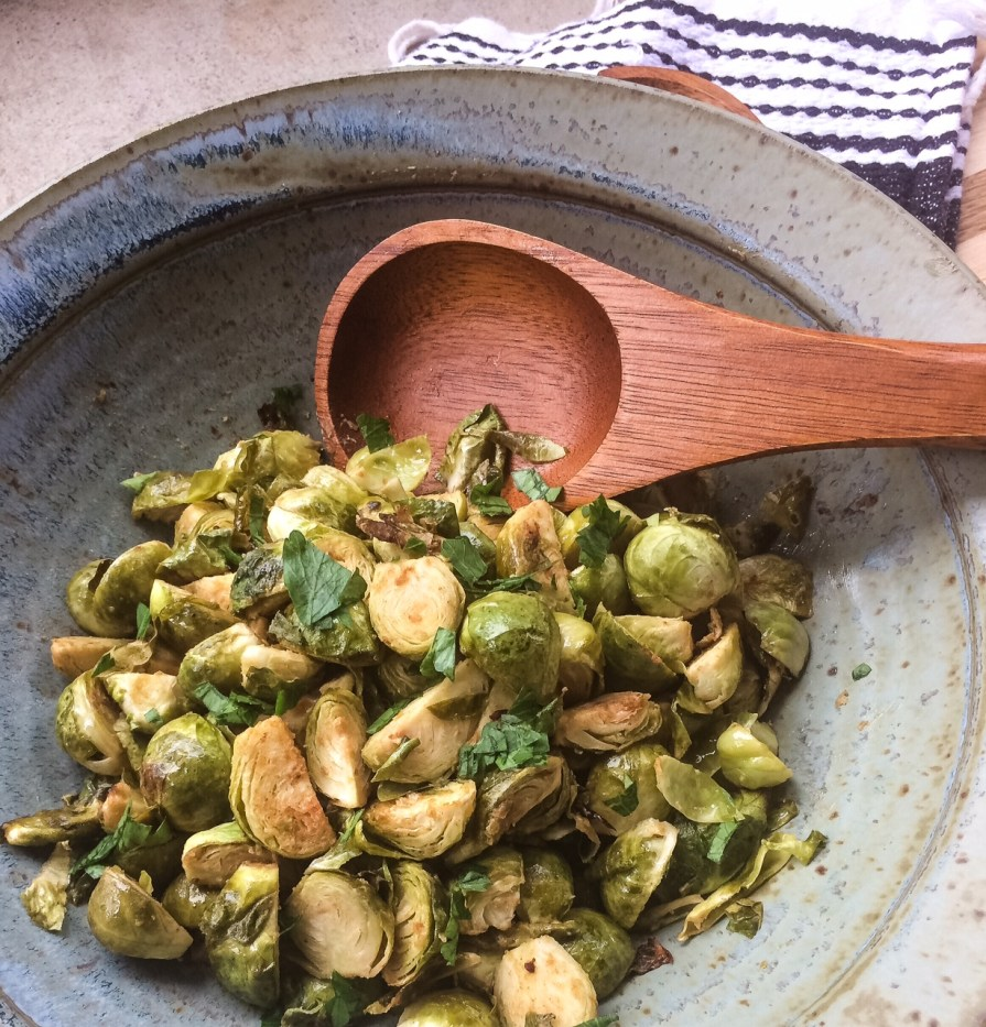 Dijon Roasted Brussels Sprouts | Paleo, Whole30, Low-Carb