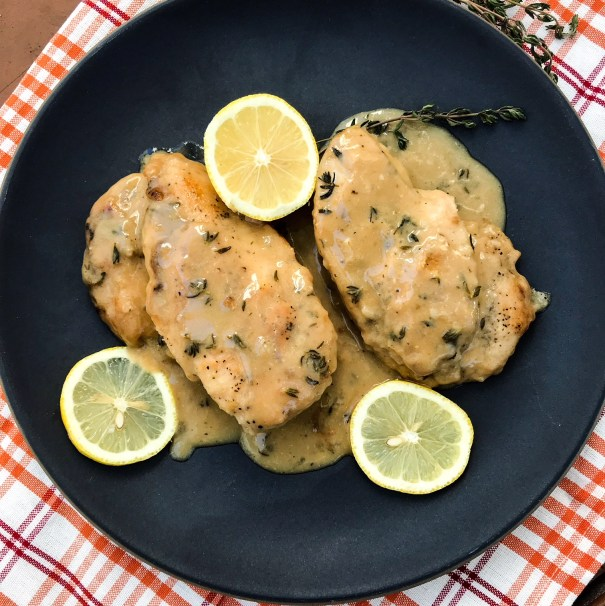 Creamy Dijon Chicken | Paleo, Whole30, Low-carb | The Real Food Effect by Candace Kennedy, Holistic Nutritionist