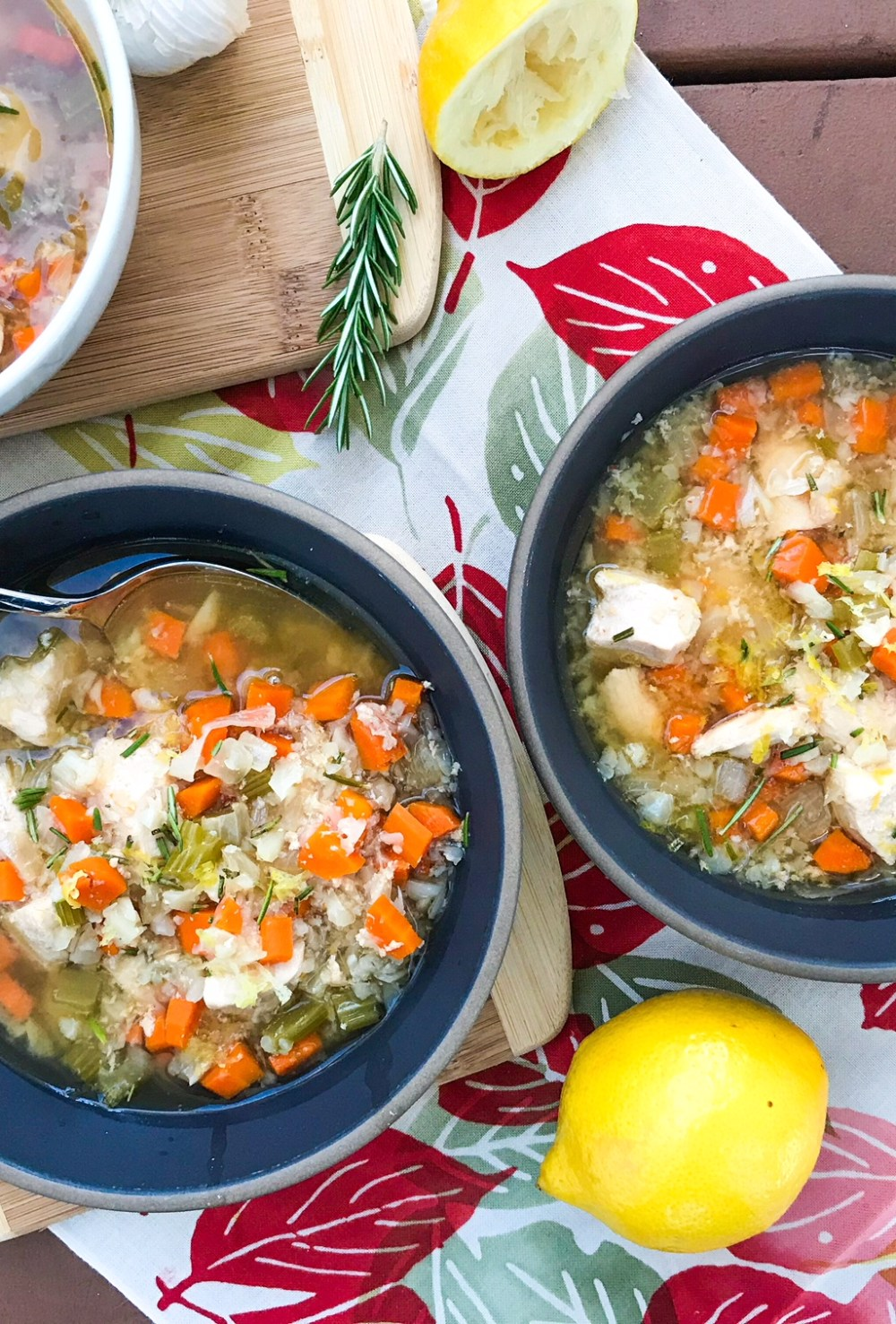 Slow Cooker Lemon & Rosemary Chicken Soup | Paleo, Whole30, Low-carb | The Real Food Effect by Candace Kennedy, Holistic Nutritionist