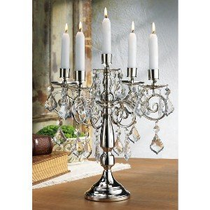 SILVER PLATED CANDELABRA 14 INCH