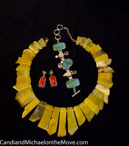 Lucious, lovely jewelry that has found a good home - Mine!