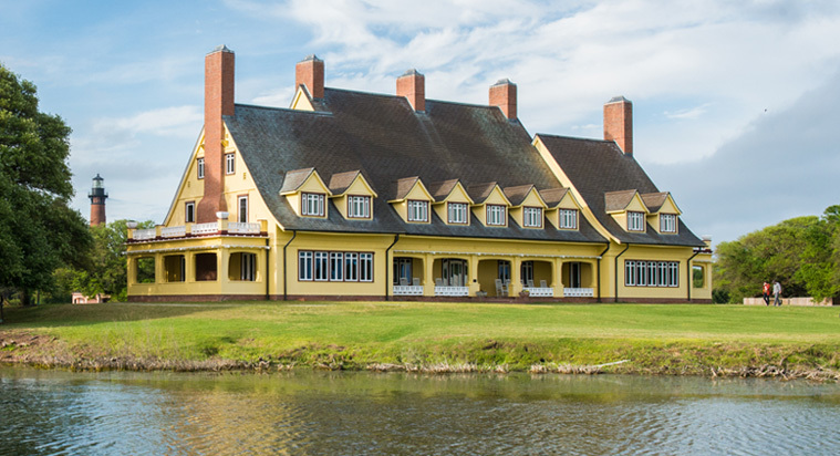 The majestic Whalehead Mansion/ Hunting Lodge