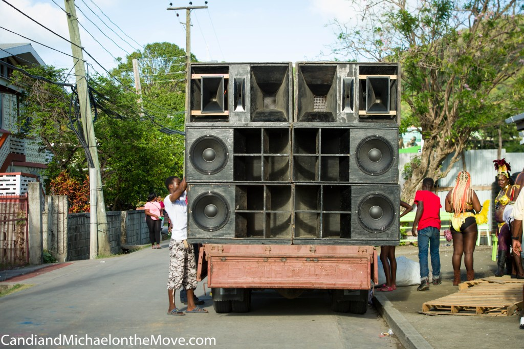 One (!) of the trucks blasting Soca music on the streets day and nigh during Carnival