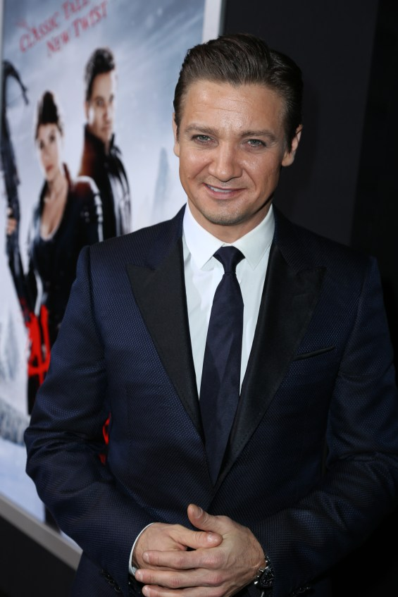 "Jeremy Renner arrives the Los Angeles premiere of ""Hansel and Gretel Witch Hunters"" held at Grauman's Chinese Theatre on Thursday, January 24, 2013 in Hollywood, Calif. (Photo by Alex J. Berliner/ABImages)"