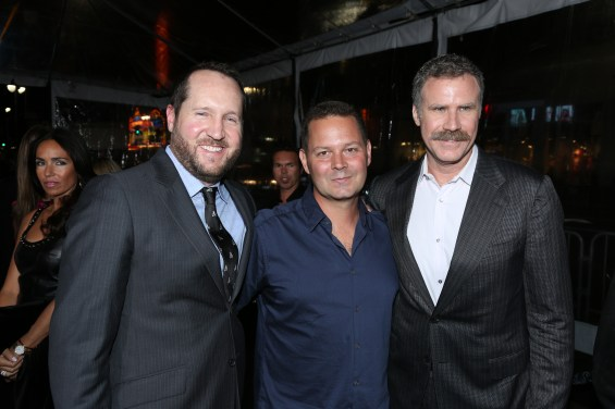 "From Left, producers Beau Flynn, Kevin Messick and Will Ferrell arrive at the Los Angeles premiere of ""Hansel and Gretel Witch Hunters"" held at Grauman's Chinese Theatre on Thursday, January 24, 2013 in Hollywood, Calif. (Photo by Alex J. Berliner/ABImages)"