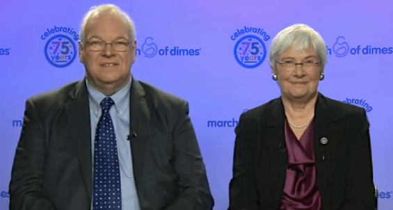 FDRs grandson James Roosevelt Jr. and March of Dimes President Dr. Jennifer Howse  565x302 Interview: President Franklin D. Roosevelts Grandson James Roosevelt, Jr. and March of Dimes President Dr. Jennifer Howse Discuss March Of Dimes 75th Anniversary