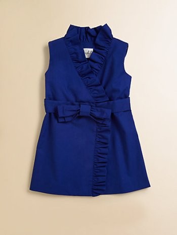 Milly Mini Toddler's & (Little Girl's) Ruffled Wrap Dress in Cobalt Blue Dress Easter