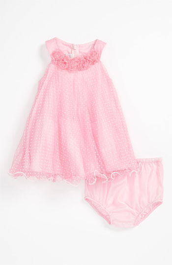 Iris & Ivy Trapeze Dress & Bloomers (Infant) in Pink. Easter