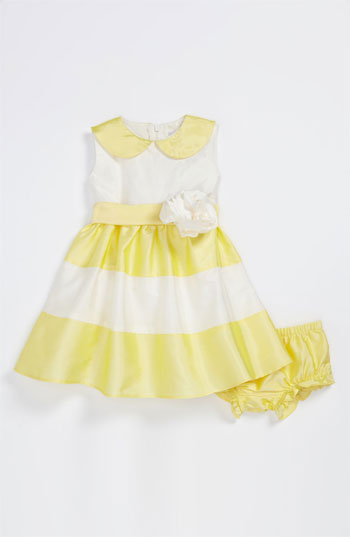 Us Angels Peter Pan Collar Dress (Toddler) in Yellow and White. Nordstrom Easter