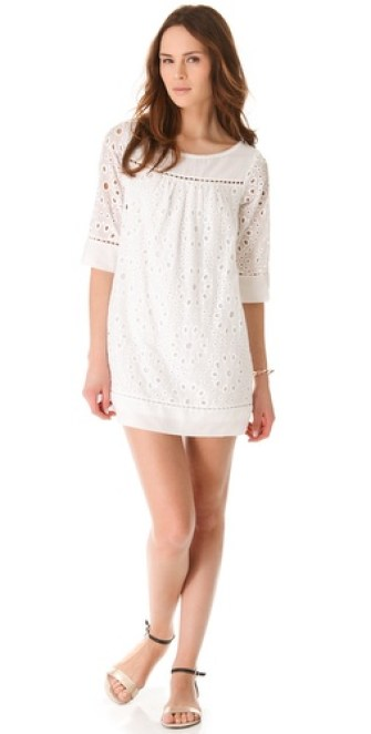 Ella Moss Heidi Eyelet Dress in White. Shopbop