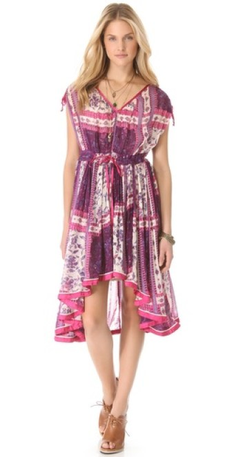 Free People Rose Garden uneven hem Dress in Violet Combo. Shopbop