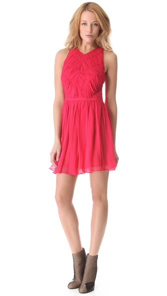 Zimmerman Independent Ruched Dress in Ruby. Shopbop
