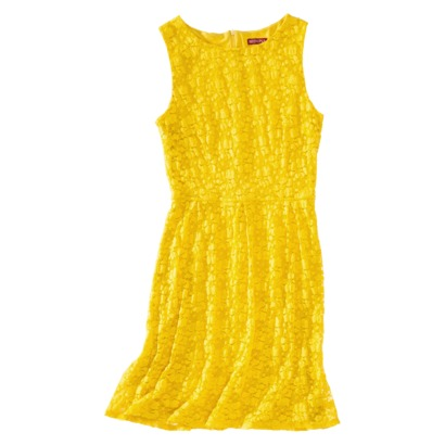 Merona Petites Refined Lace Dress in Antique Yellow. Target.com