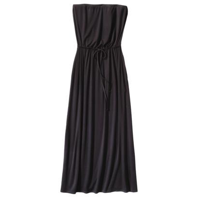 Merona Petites Strapless Tie-Waist Maxi Dress in Black. Target