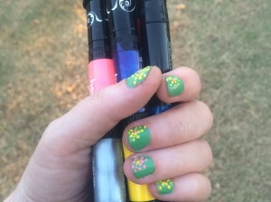 The Hot Designs nail art pens are really easy to use. I look forward to trying new designs with the pens!