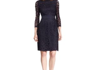 Tory Burch renny DRESS in Medium Navy