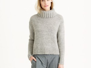 J.Crew CHUNKY TURTLENECK SWEATER item b5875 in Hthr Nickel