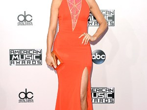 Learn how to recreate Julianne Hough's slick back bob as seen on the American Music Awards red carpet on Sunday, November 23rd! Credit: Jason Merritt/Getty Images. Image courtesy of Us