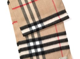 Burberry Heritage Check Cashmere Tartan Scarf in Classic Check