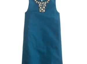J.Crew GIRLS' GRACEN DRESS IN COTTON CADY item 93201 in Seaport Blue