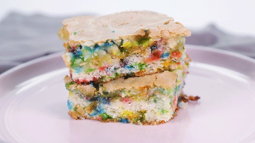 "Learn how to make the amazing confetti blondies that chef Carla Hall made on ""The Chew"" on Friday, April 24, 2015."