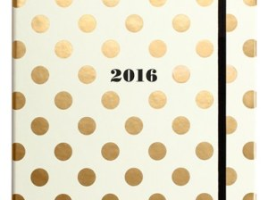 kate spade new york large cream and gold polka dot 17-month agenda