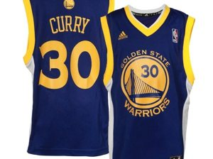 adidas Stephen Curry Golden State Warriors Youth Royal Blue Road Replica Jersey