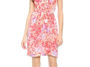 Yumi Kim Jayne Silk Dress in Peach Flower Power