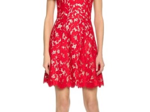 Lover Warrior Floral Lace Mini Dress in Red