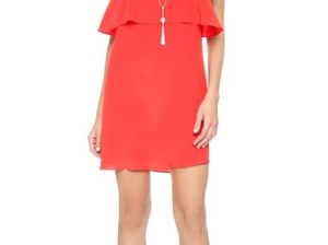 Rory Beca Fina Deep V Back Dress in Bright Red. Shopbop extra 25% sale