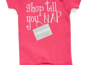 Sara Kety Baby & Kids Sara Kety Baby and Kids 'Shop Til You Nap Nordstrom' Bodysuit (Baby Girls) (Online Only) in Hot Pink. Nordstrom Anniversary Sale