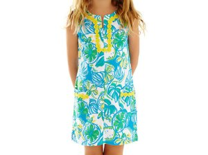 Lilly Pulitzer GIRLS LITTLE LILLY KNIT SHIFT DRESS in Resort White Sweet And Sour